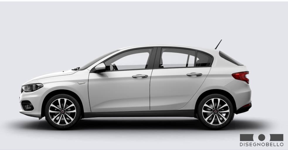 Fiat Tipo Hatchback side profile rendering