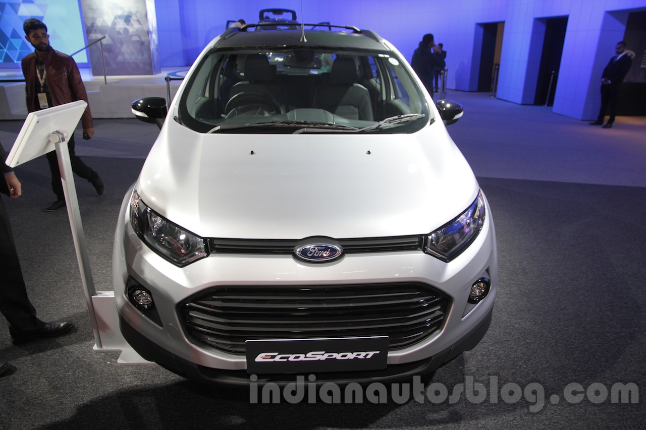 ford ecosport customised front at auto expo 2016. Black Bedroom Furniture Sets. Home Design Ideas