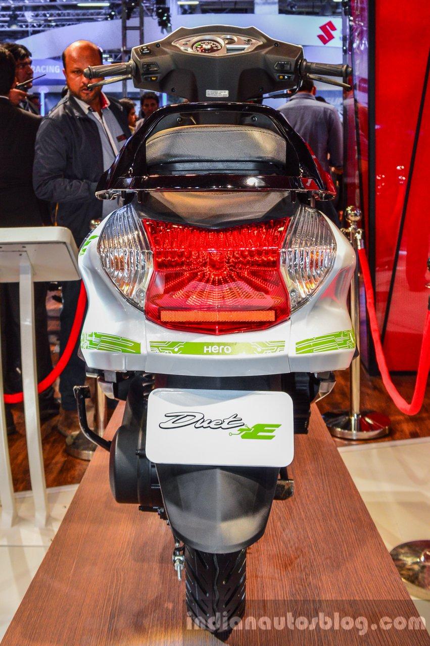 Hero Duet-E rear at the Auto Expo 2016