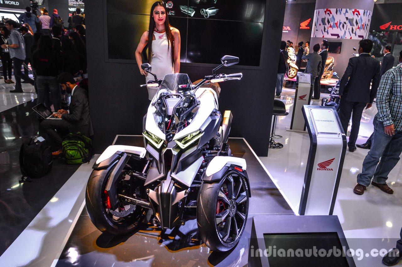 Honda neowing concept honda ev cub concept auto expo 2016 live honda neowing concept at auto expo 2016 publicscrutiny Choice Image