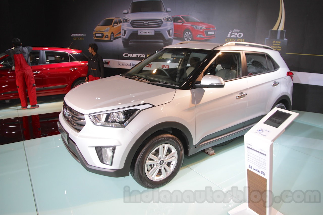 Hyundai Creta front three quarters at Auto Expo 2016