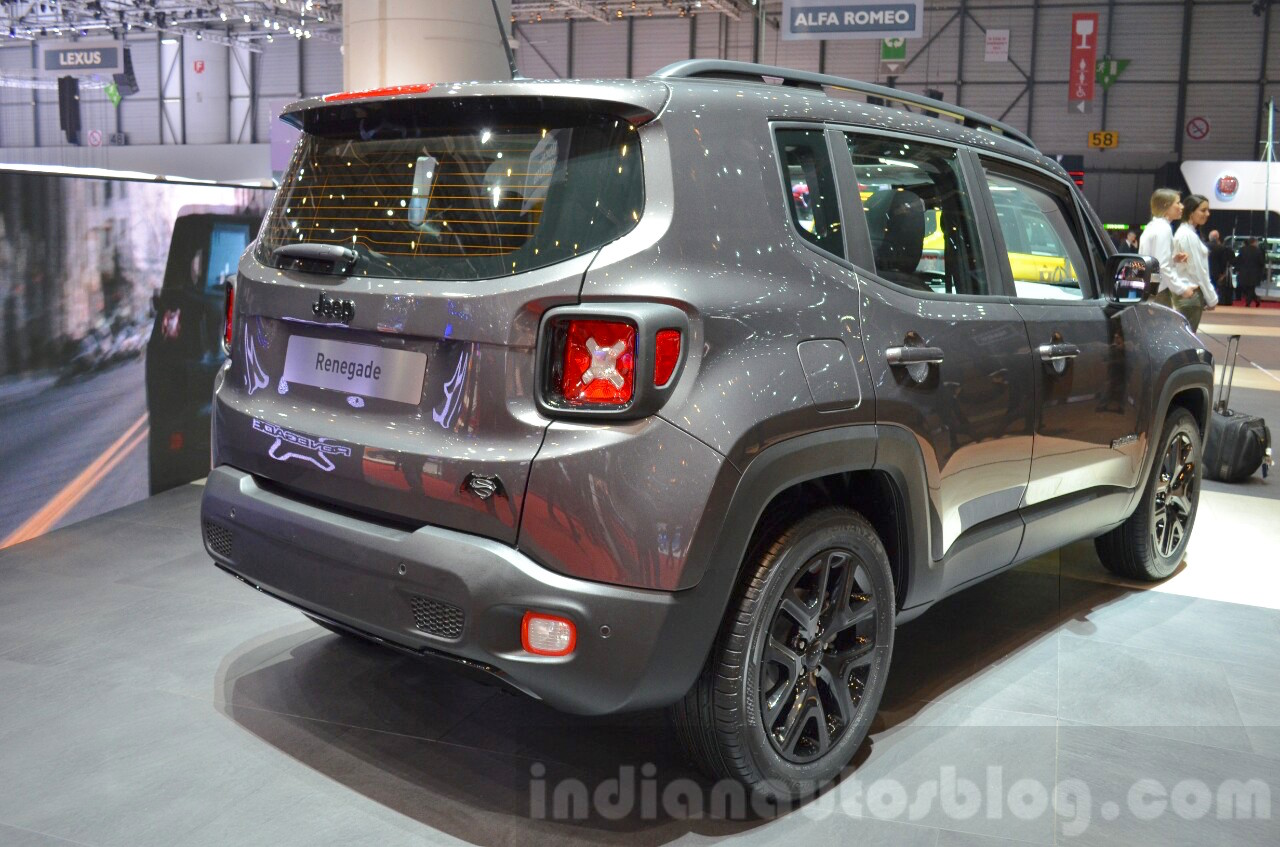 Jeep Renegade Dawn of Justice Special Edition rear three quarter at the Geneva Motor Show Live
