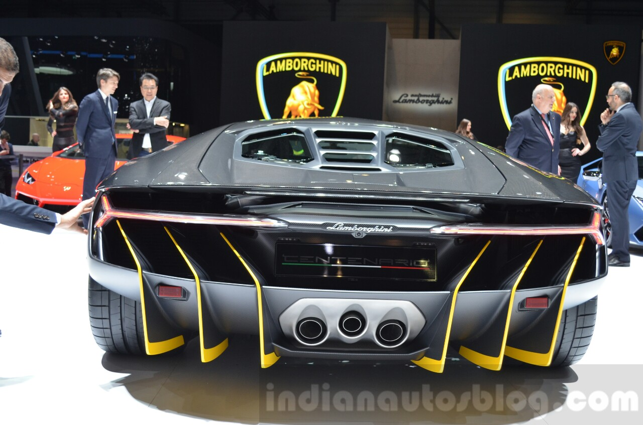 Lamborghini Centenario LP770-4 rear at the 2016 Geneva Motor Show Live