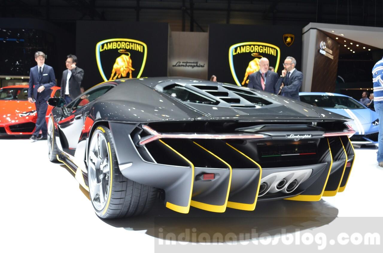 Lamborghini Centenario LP770-4 rear quarter at the 2016 Geneva Motor Show Live