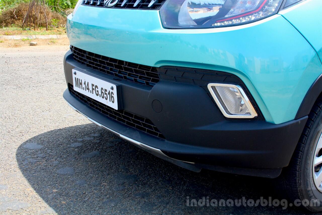 Mahindra KUV100 1.2 Diesel (D75) front bumper Full Drive Review