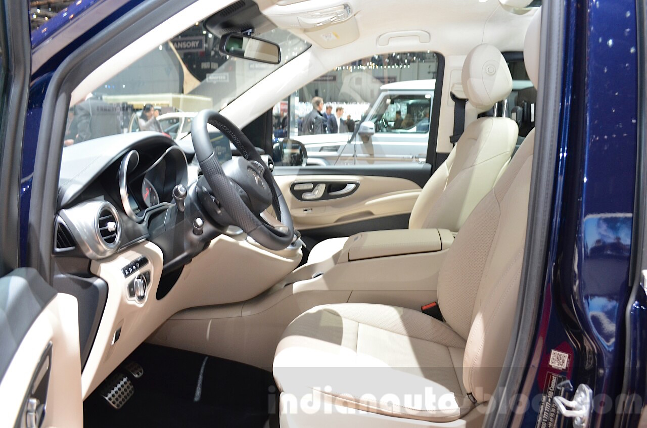 Mercedes V-Class Exclusive Edition front seats at the 2016 Geneva Motor Show