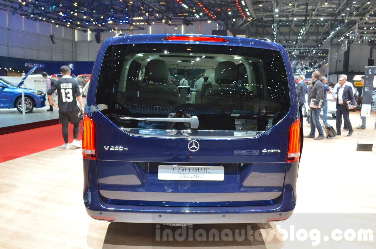 Mercedes V-Class Exclusive Edition rear at the 2016 Geneva Motor Show