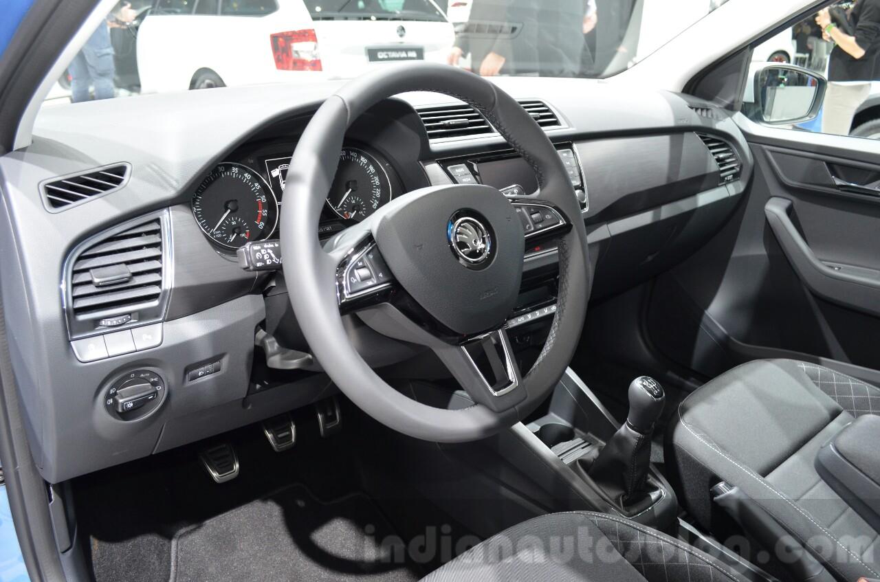 Skoda Fabia Combi ScoutLine interior at the 2016 Geneva Motor Show Live