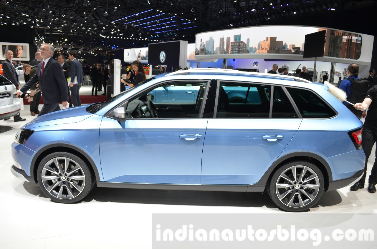 Skoda Fabia Combi ScoutLine side at the 2016 Geneva Motor Show Live