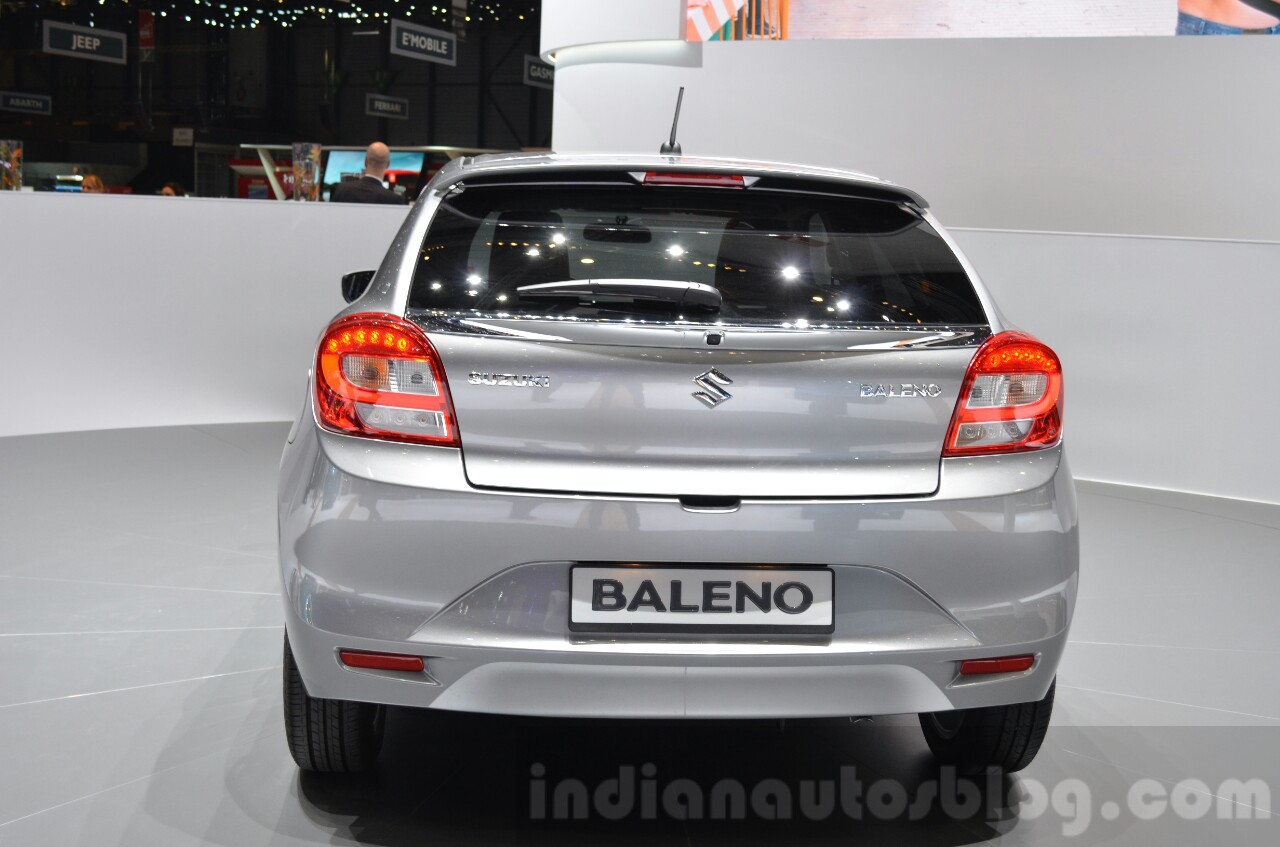 Suzuki Baleno 1.0 Boosterjet rear at 2016 Geneva Motor Show