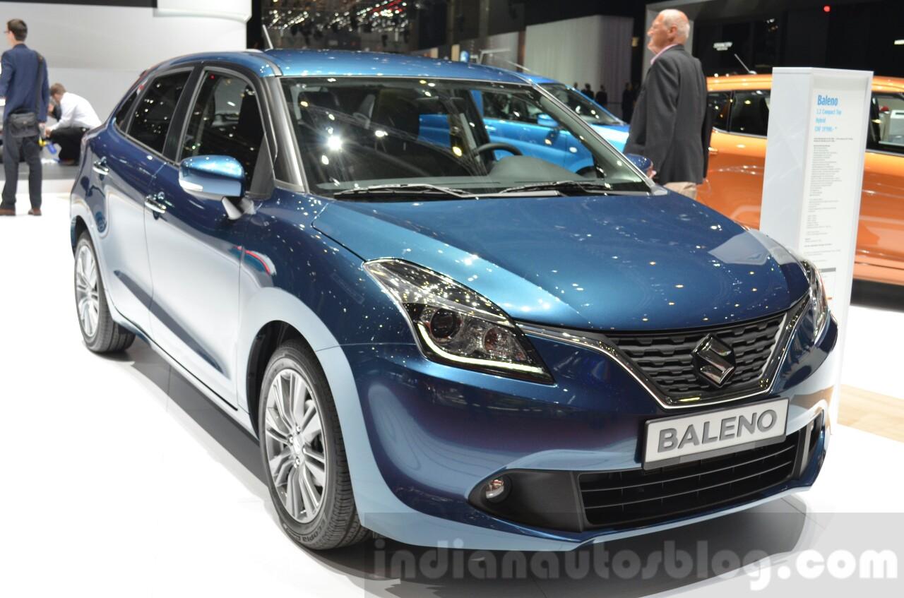 Suzuki Baleno 1.2 SHVS front three quarters at 2016 Geneva Motor Show