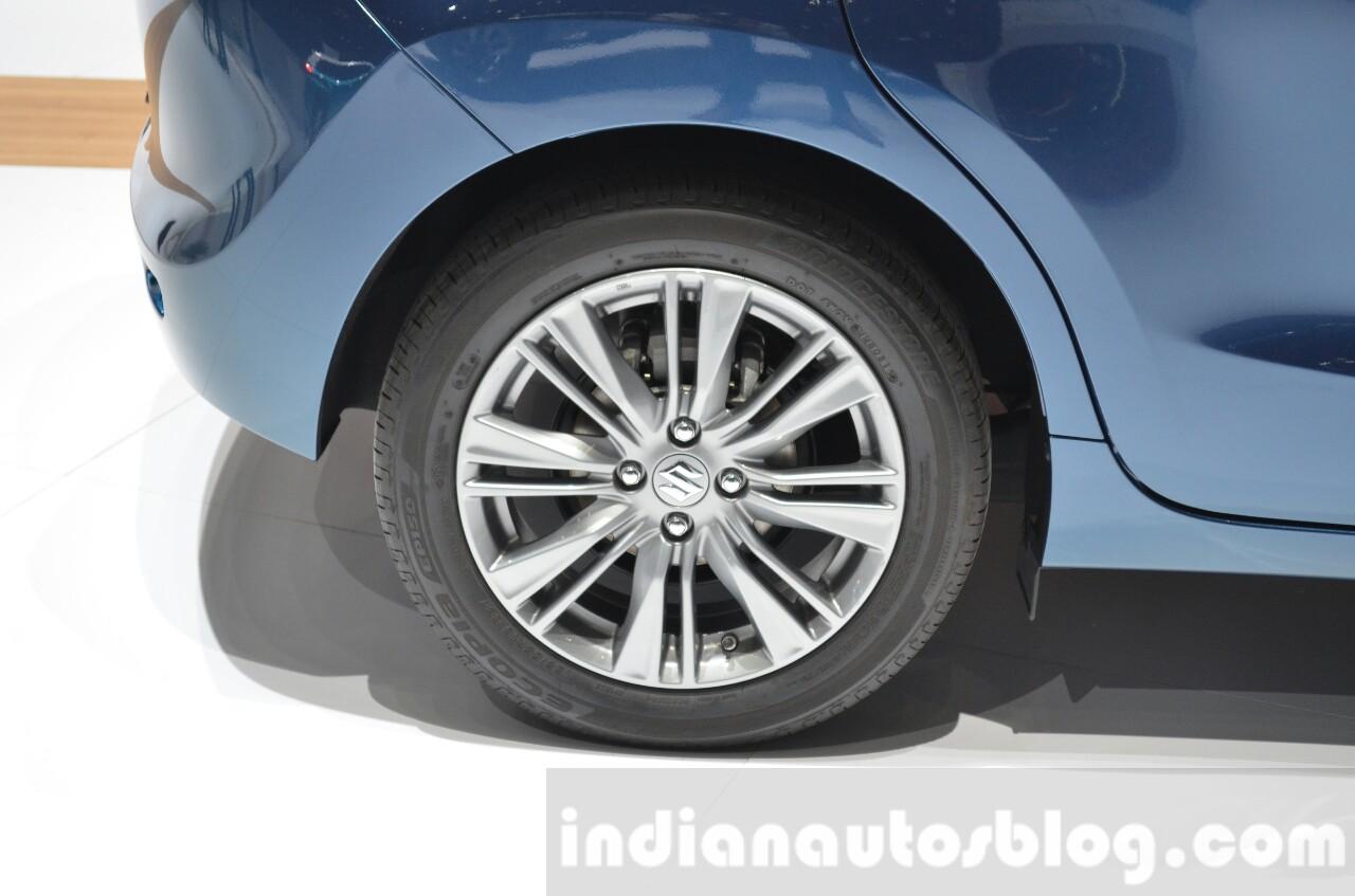 Suzuki Baleno 1.2 SHVS rear wheel tire at 2016 Geneva Motor Show