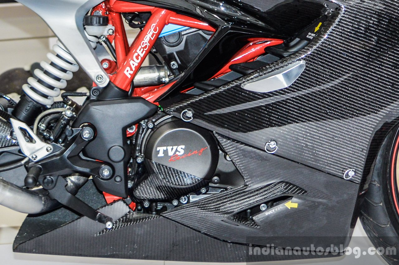 TVS Akula 310 engine at Auto Expo 2016