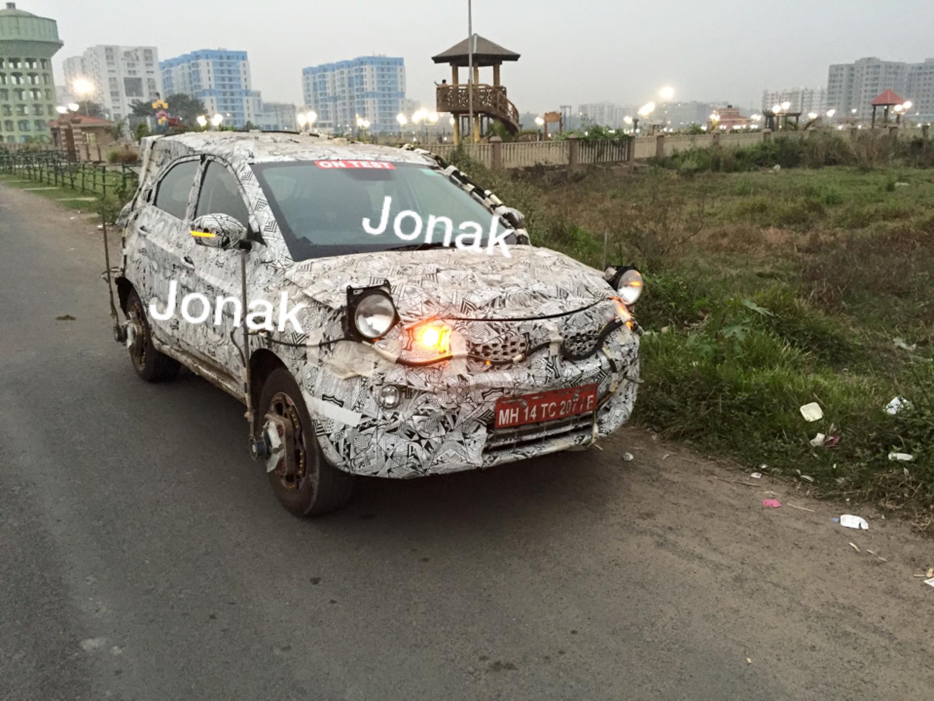 Tata Nexon snapped testing in Kolkata