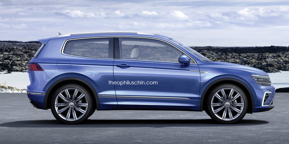 VW Tiguan CC (coupe) side profile rendering