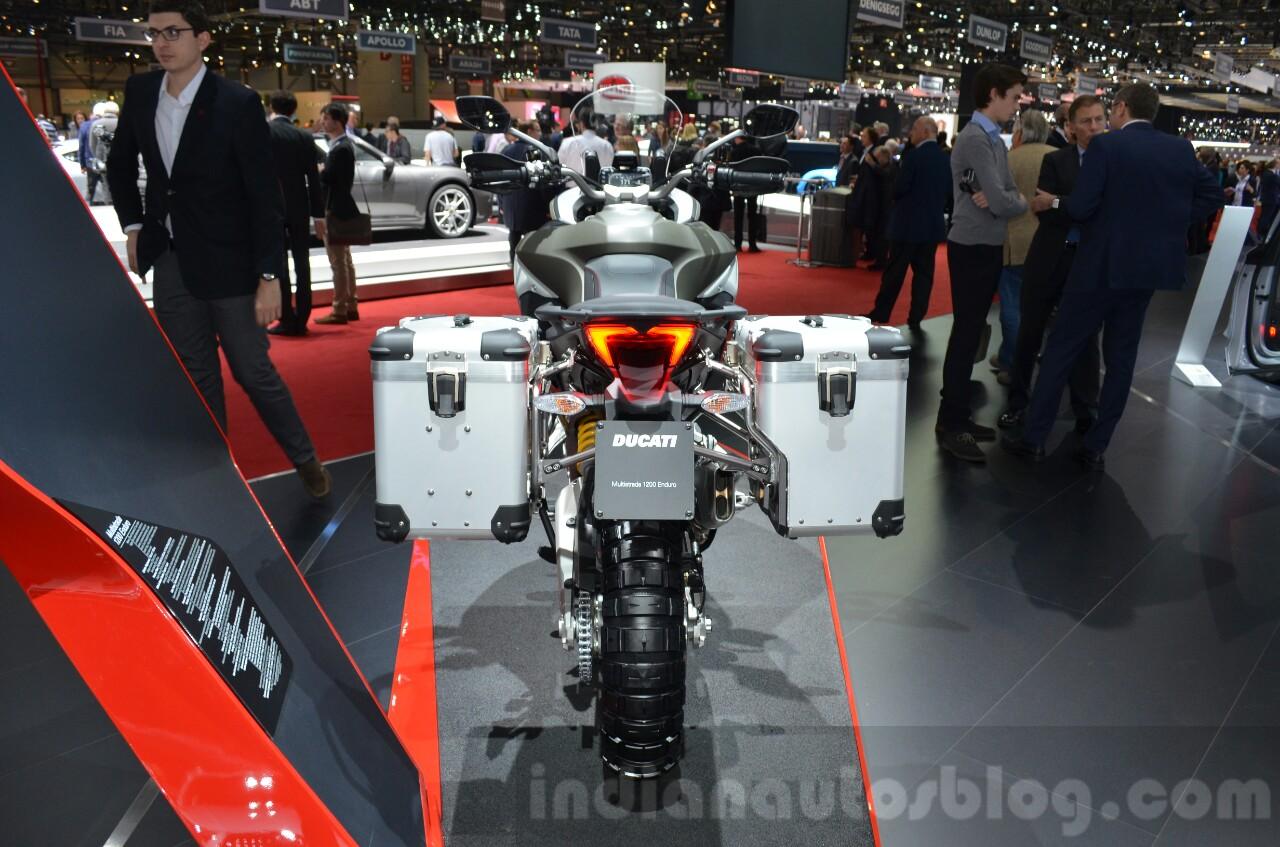 2016 Ducati Multistrada 1200 Enduro rear at 2016 Geneva Motor Show