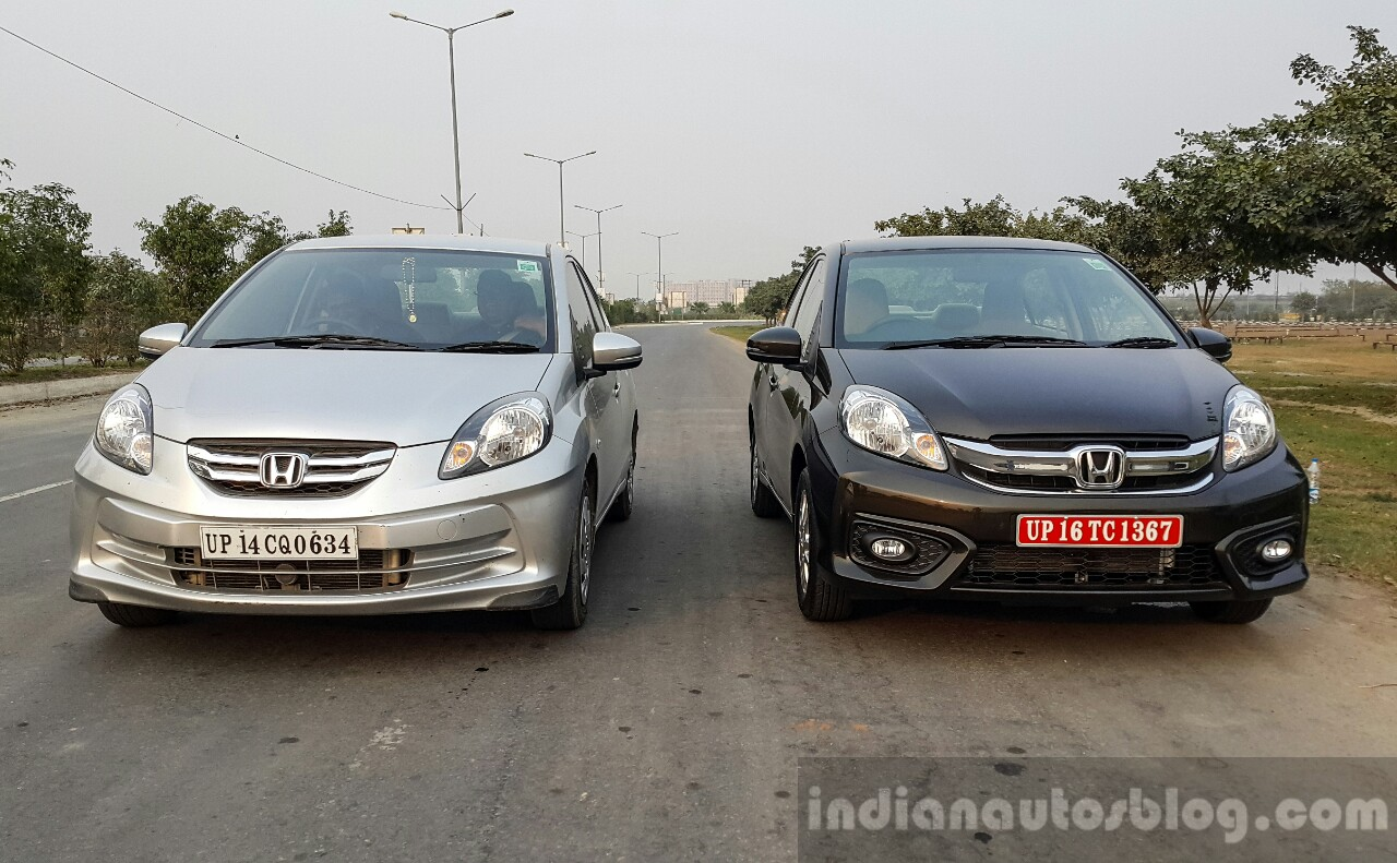 2016 Honda Amaze 12 VX Facelift Old Vs New Front First Drive Review