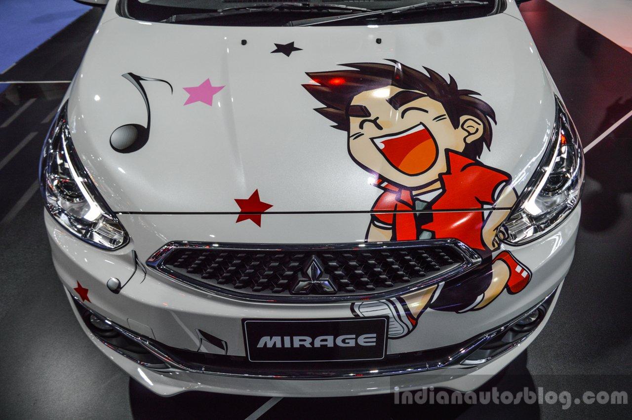 2016 Mitsubishi Mirage bonnet at 2016 Bangkok International Motor Show