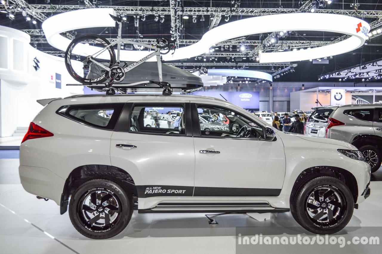 2016 Mitsubishi Pajero Sport side white at 2016 BIMC