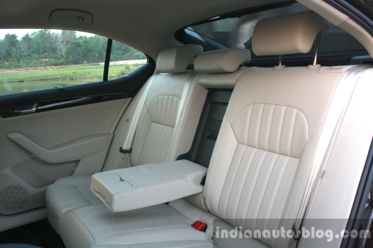 2016 Skoda Superb Laurin & Klement rear seat First Drive Review