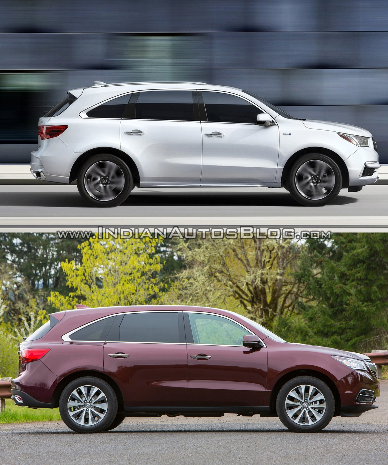 2017 Acura MDX Vs. Old Acura MDX Side Profile