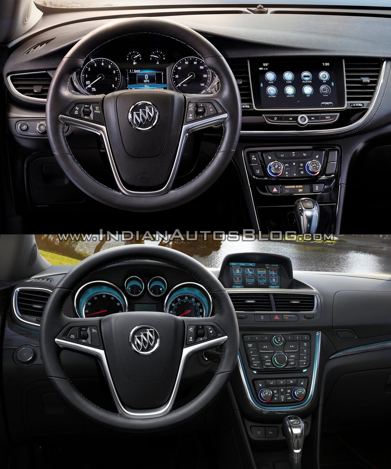 2017 Buick Encore Vs 2013 Buick Encore Interior Dashboard Driver Side
