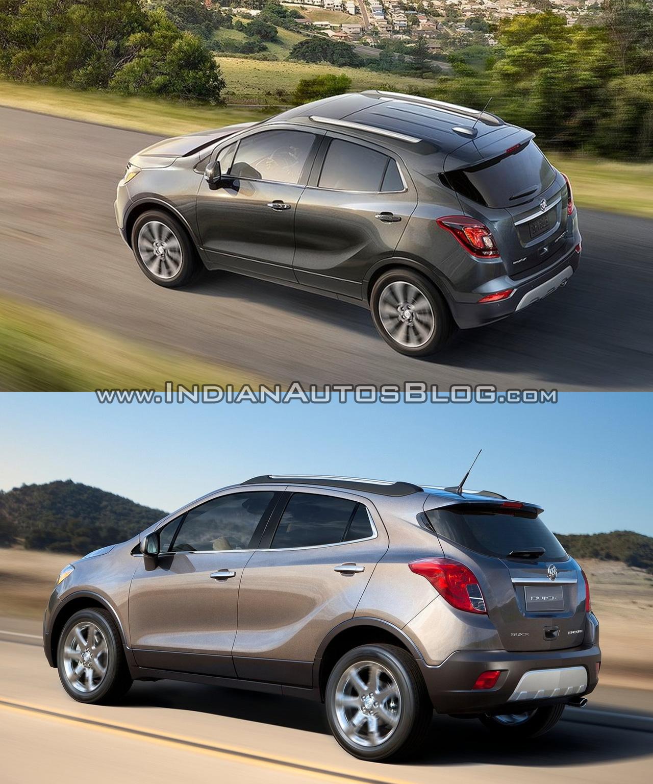 2013 Buicks: 2017 Buick Encore Vs. 2013 Buick Encore Rear Three Quarters