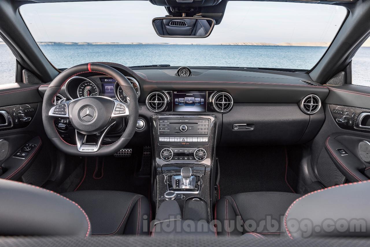 2017 Mercedes SLC43 AMG at 2016 Geneva Motor Show dashboard