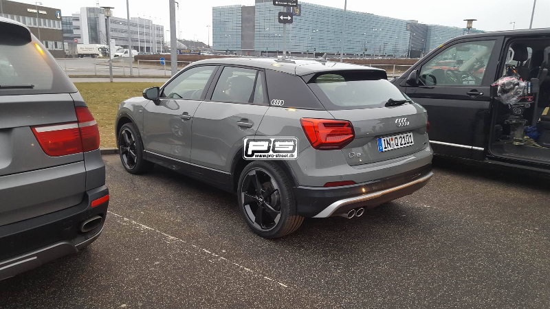 Audi Q2 rear quarter spied in flesh