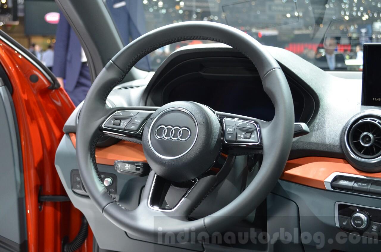 Audi Q2 steering at the 2016 Geneva Motor Show Live