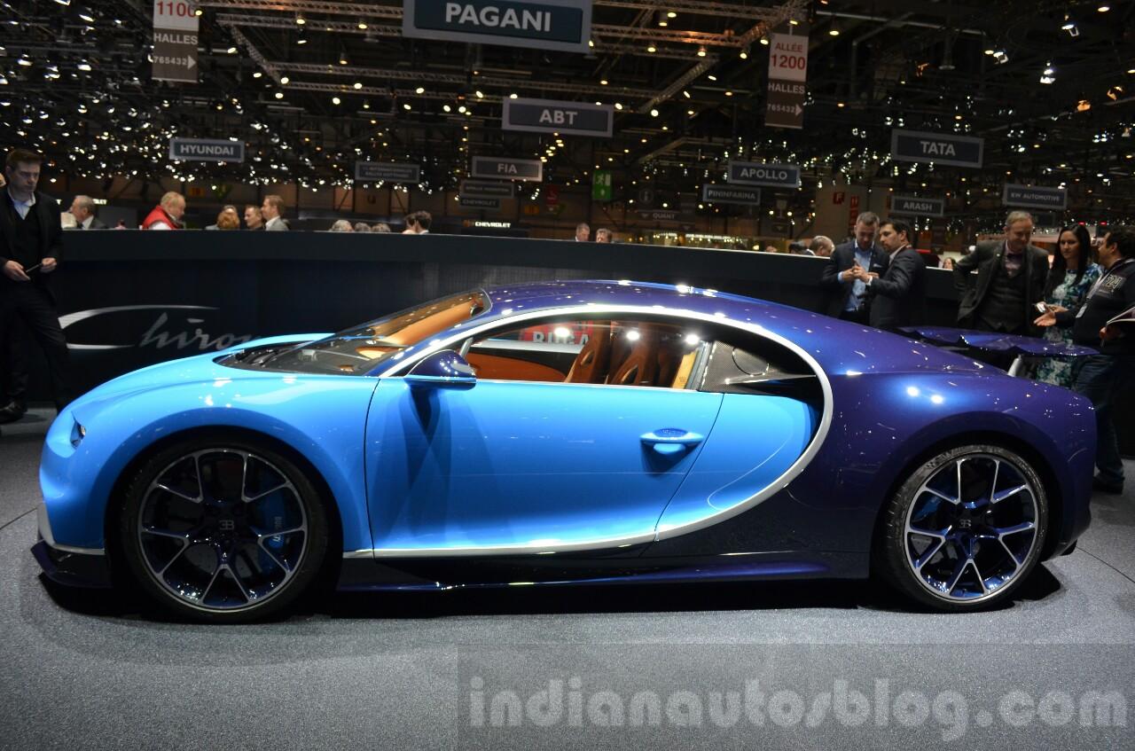Bugatti Chiron Side At The 2016 Geneva Motor Show