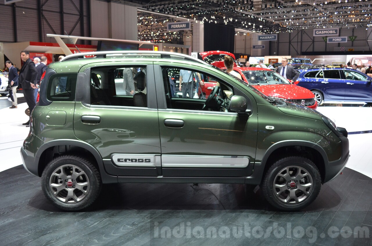 fiat panda 4x4 cross side at the 2016 geneva motor show. Black Bedroom Furniture Sets. Home Design Ideas
