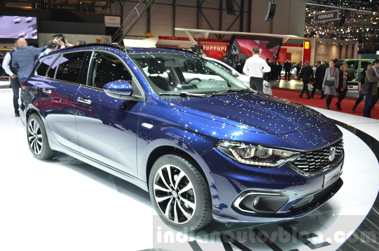 Fiat Tipo Estate headlamp, grille and bumper at the Geneva Motor Show Live