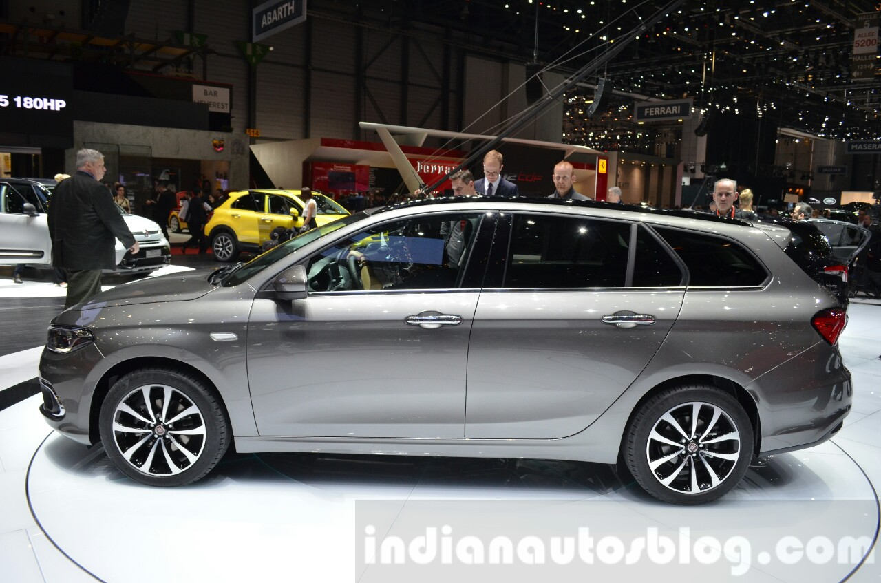 Fiat Tipo Estate side left at the Geneva Motor Show Live