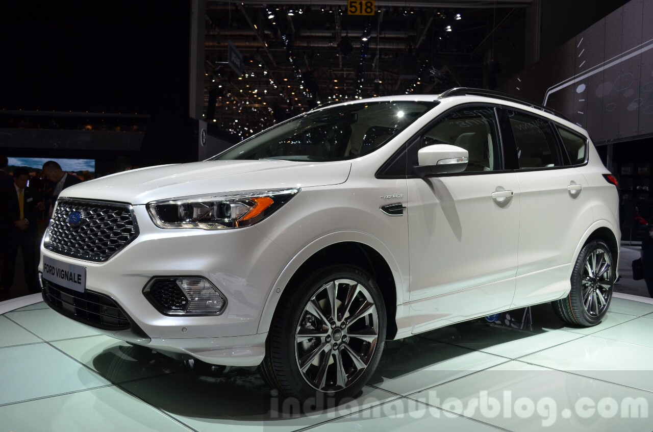 Ford Kuga Vignale Concept front three quarter at the 2016 Geneva Motor Show