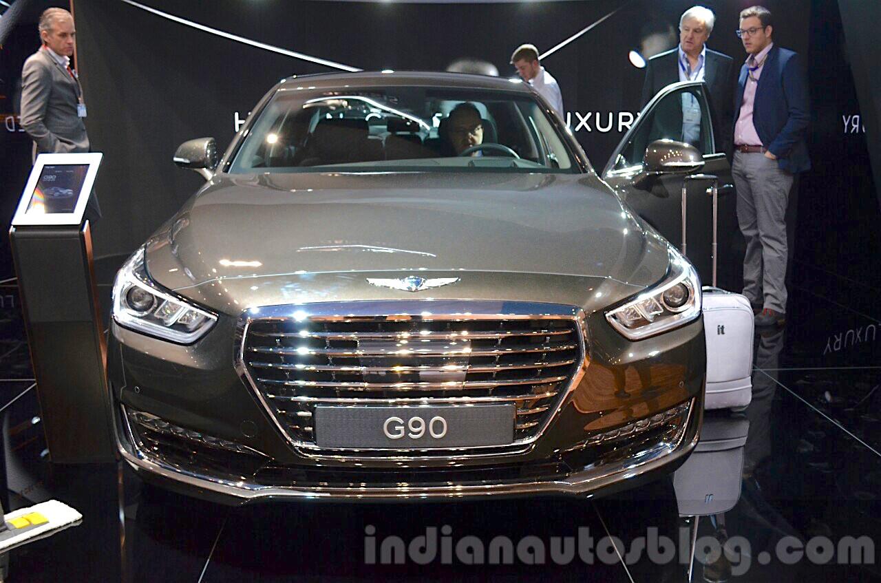 Genesis G90 front at the 2016 Geneva Motor Show