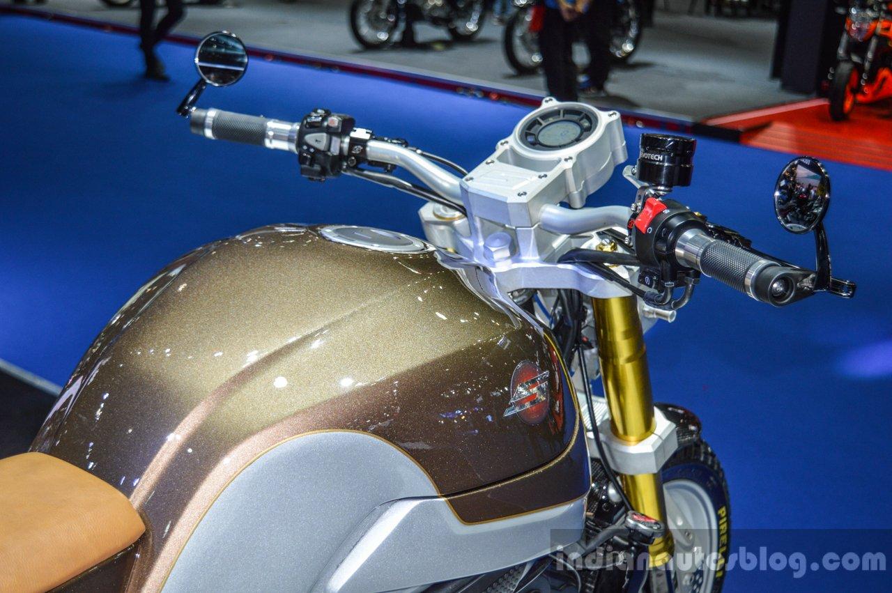 Honda CB650 Scrambler Concept brown-silver paint-job at 2016 BIMS