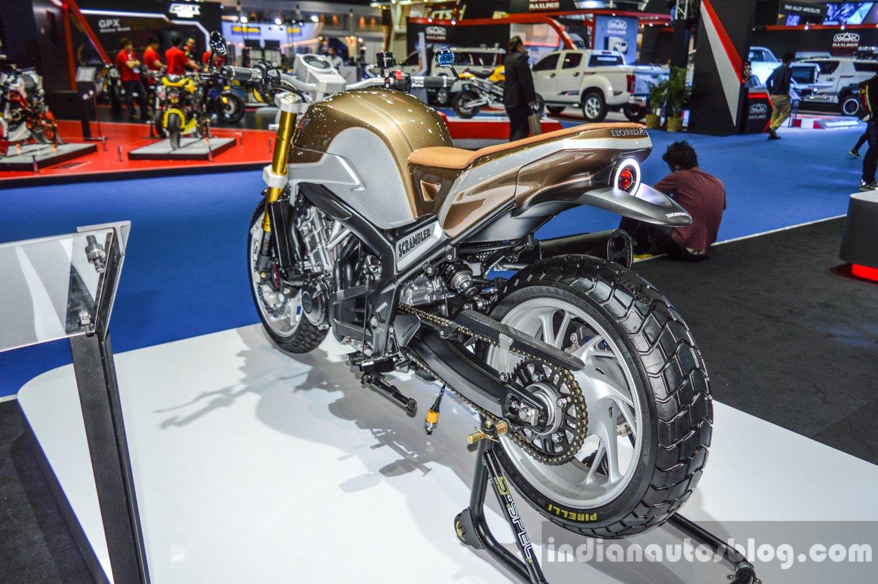 Honda CB650 Scrambler Concept rear quarter at 2016 BIMS
