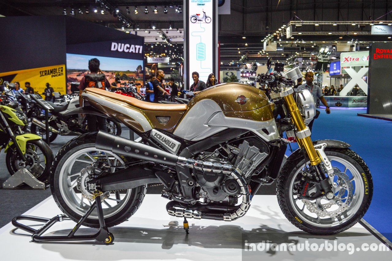 Honda CB650 Scrambler Concept Right Side At 2016 BIMS