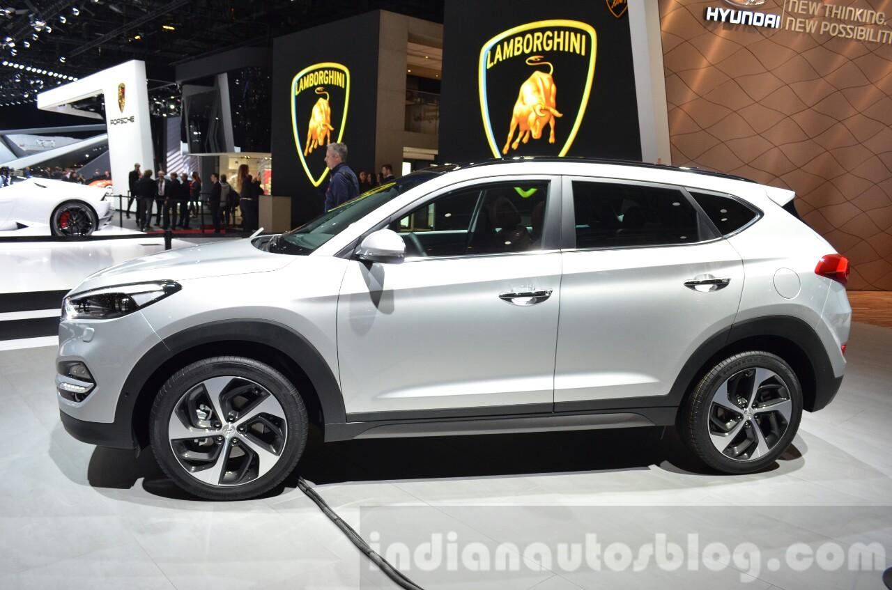 Hyundai Tucson side at 2016 Geneva Motor Show