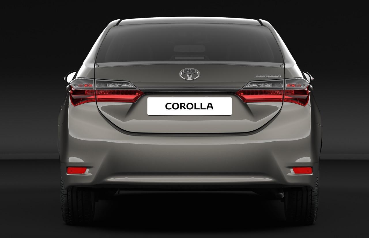 India-bound 2017 Toyota Corolla Altis (facelift) rear unveiled
