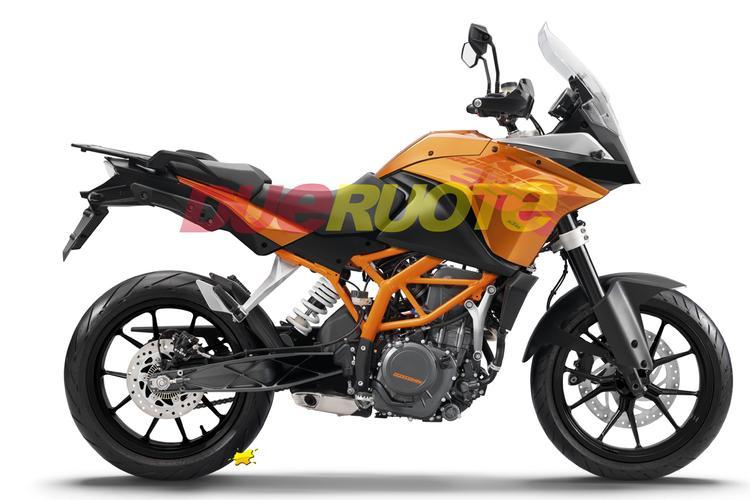 KTM Adventure 390 rendering