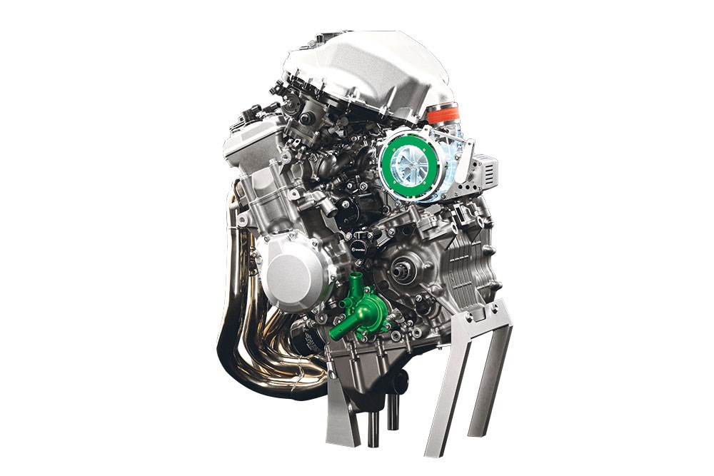 Kawasaki Supercharged engine