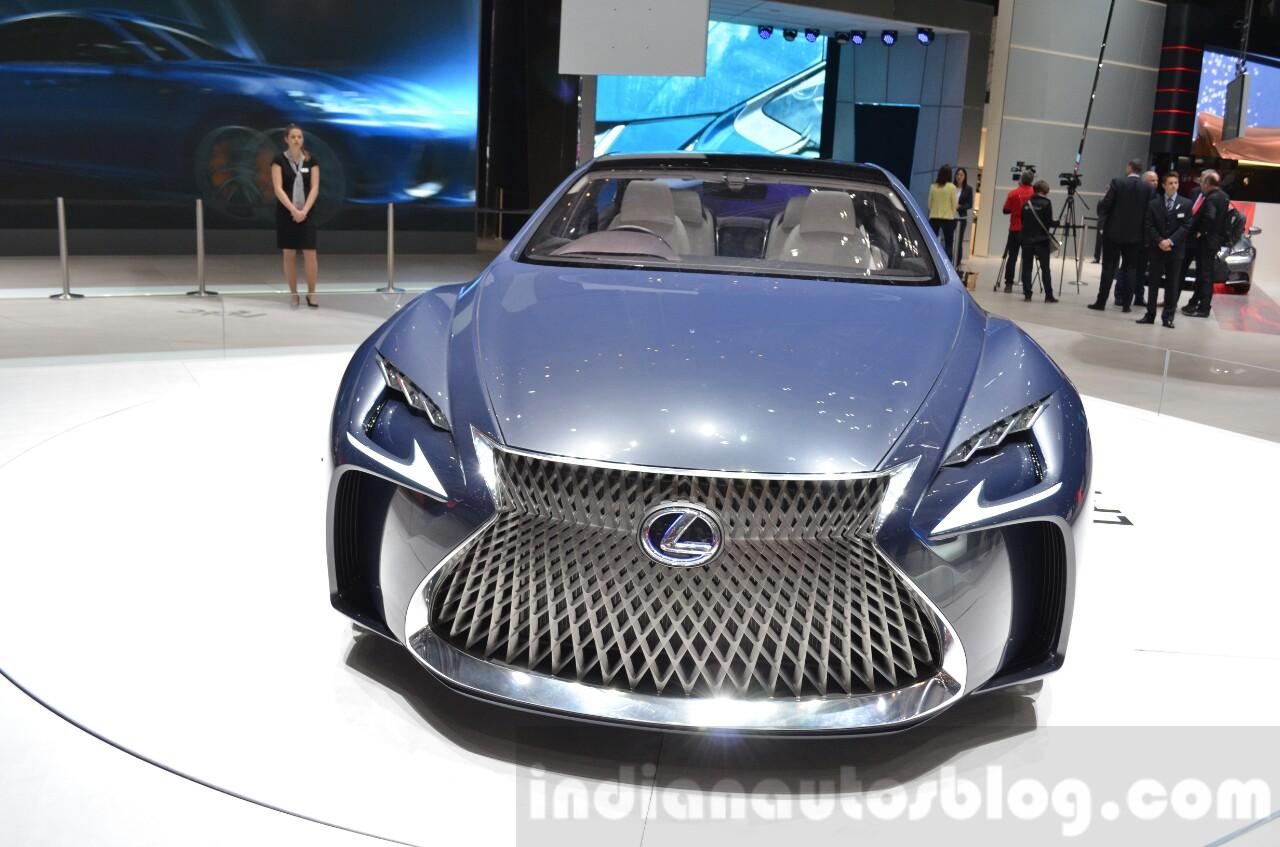 Lexus LF-FC concept front at the 2016 Geneva Motor Show