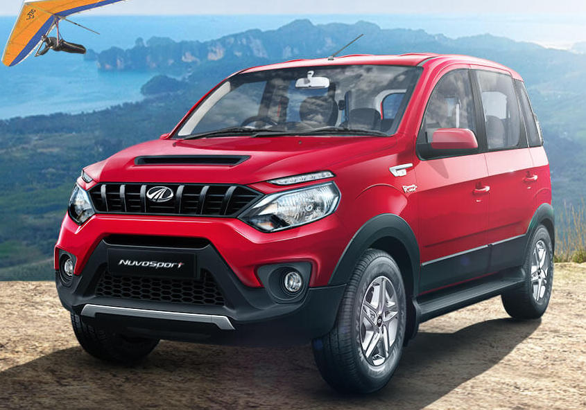 Mahindra NuvoSport front three quarter press image