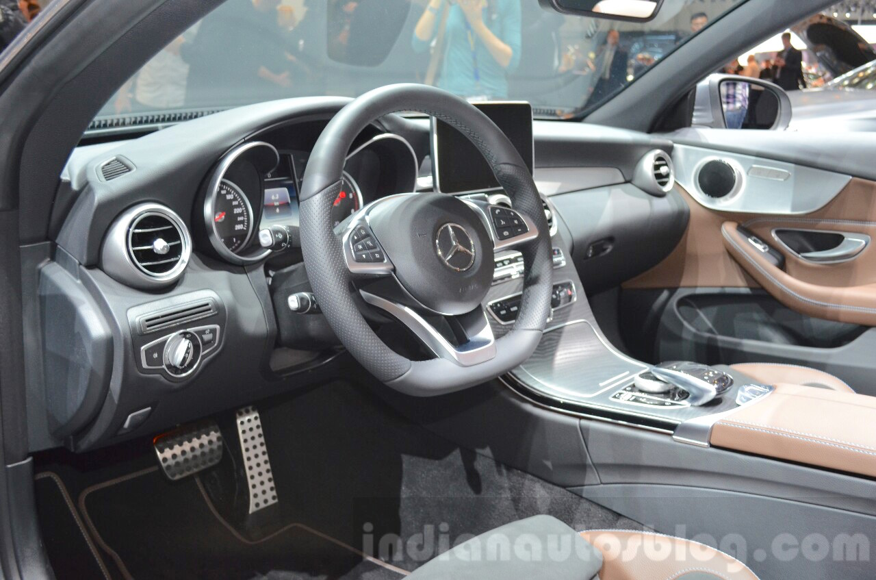 Mercedes C-Class Cabriolet interior at the 2016 Geneva Motor Show