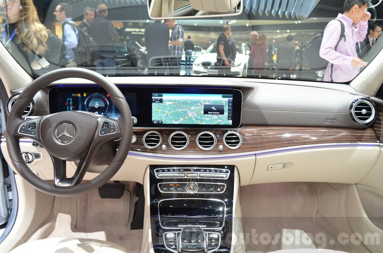 Mercedes E-Class E 350e dashboard at the 2016 Geneva Motor Show