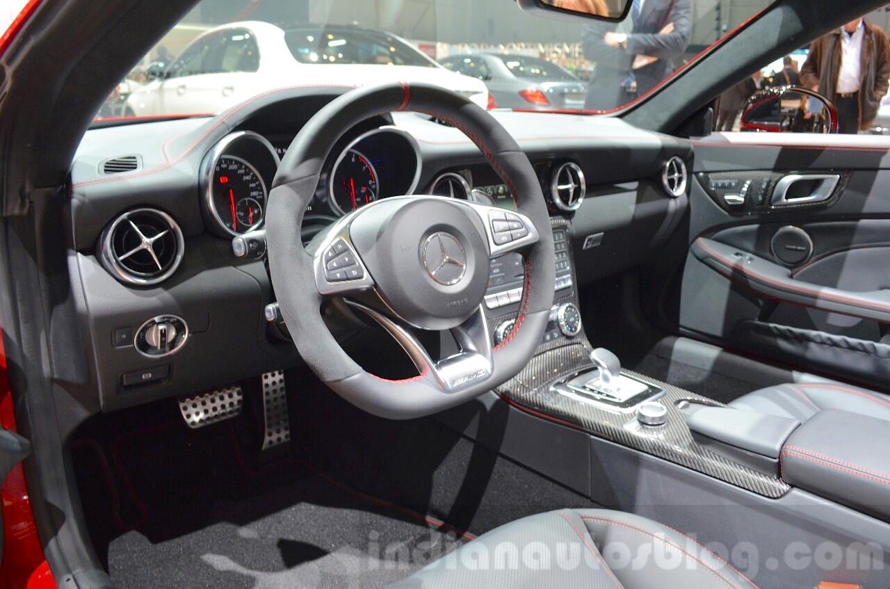 Mercedes SLC 43 AMG interior at the 2016 Geneva Motor Show