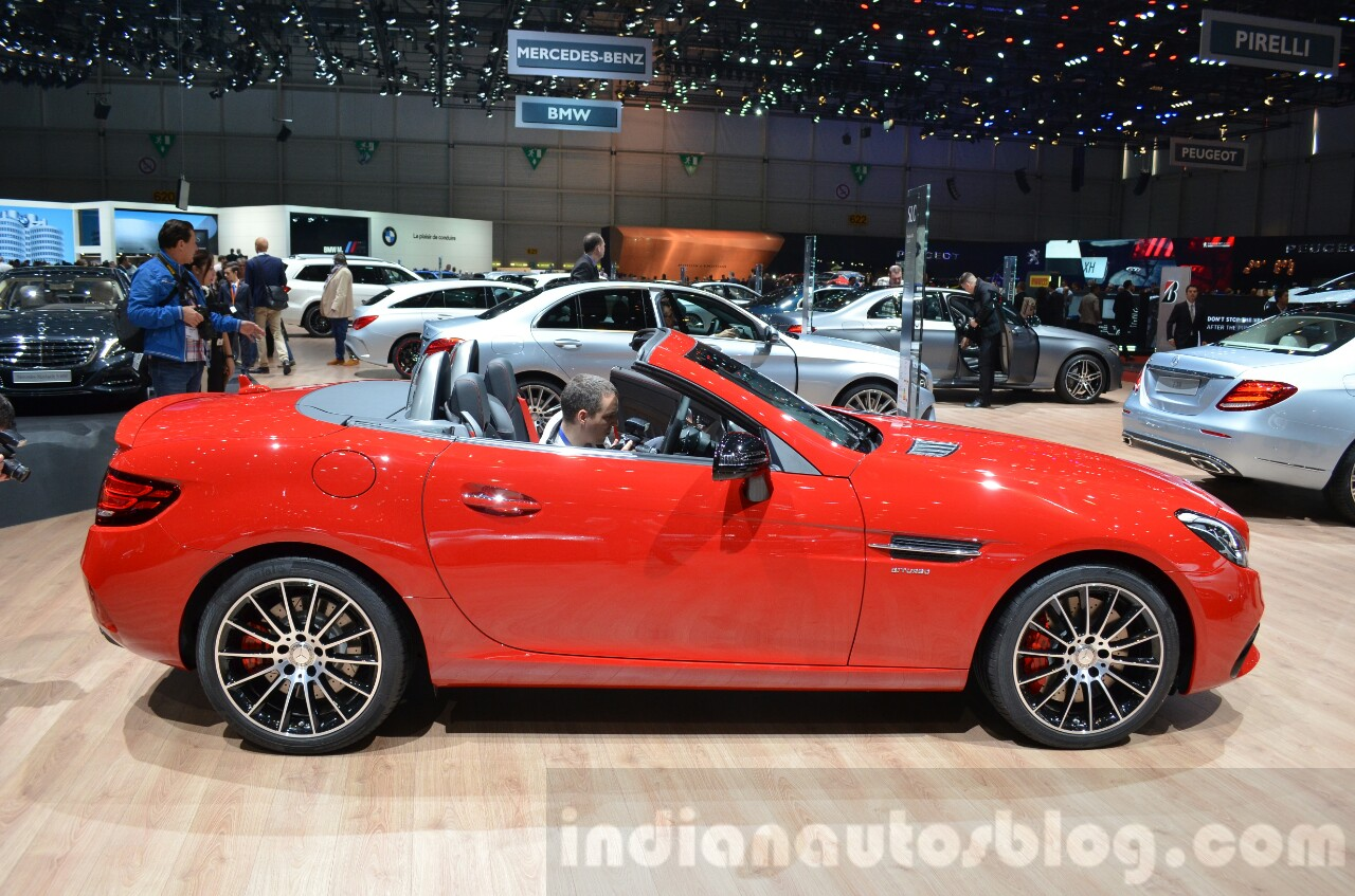 Mercedes SLC 43 AMG side at the 2016 Geneva Motor Show
