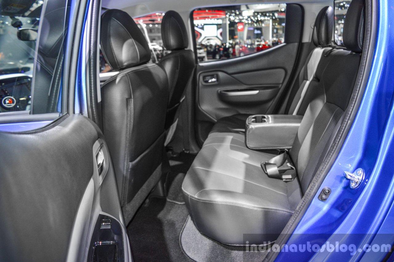 Mitsubishi Triton Limited Edition rear seats at 2016 BIMS